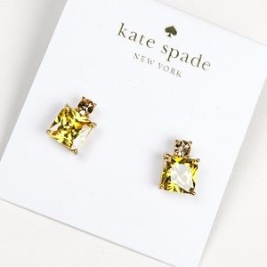 Kate spade yellow square crystal earrings